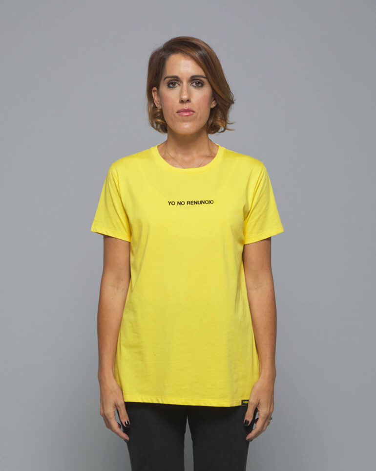 camiseta amarilla yo no renuncio